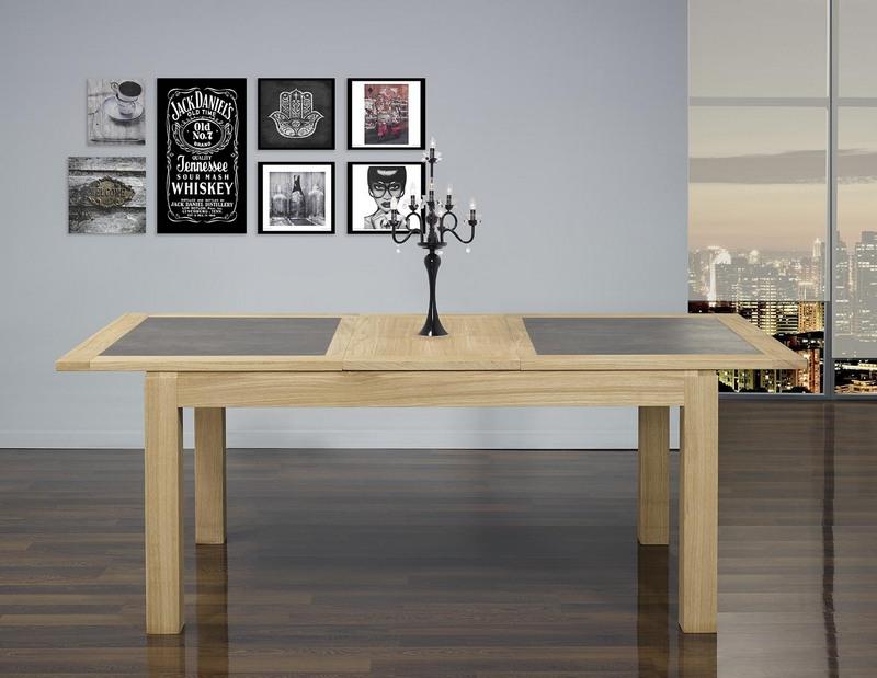 Table de repas rectangulaire 160x100 math o en ch ne ligne for Table en ceramique rectangulaire