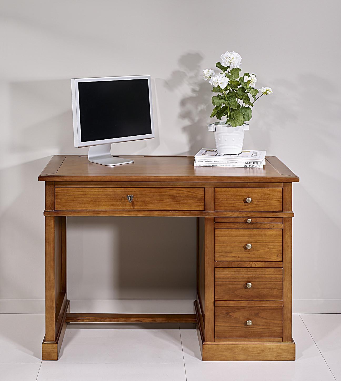 petit bureau lucie en merisier de style louis philippe plateau merisier meuble en merisier massif