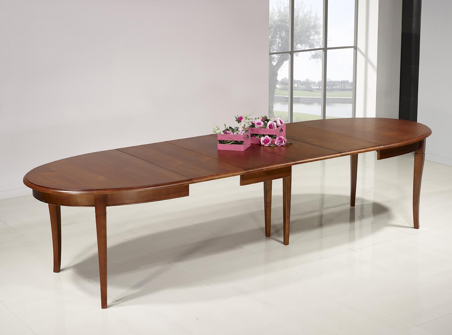 table ovale de salle manger estelle en merisier massif 170x110 de style louis philippe 4. Black Bedroom Furniture Sets. Home Design Ideas