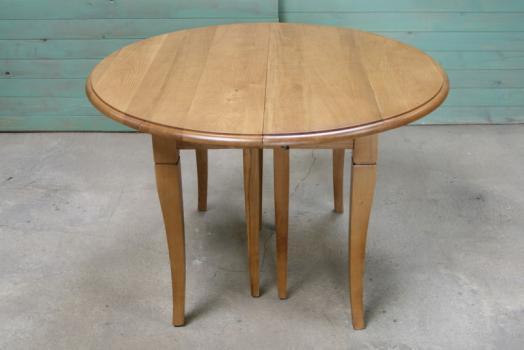 table ronde volets diametre 120 en ch ne massif de style louis philippe 5 allonges de 40 cm. Black Bedroom Furniture Sets. Home Design Ideas
