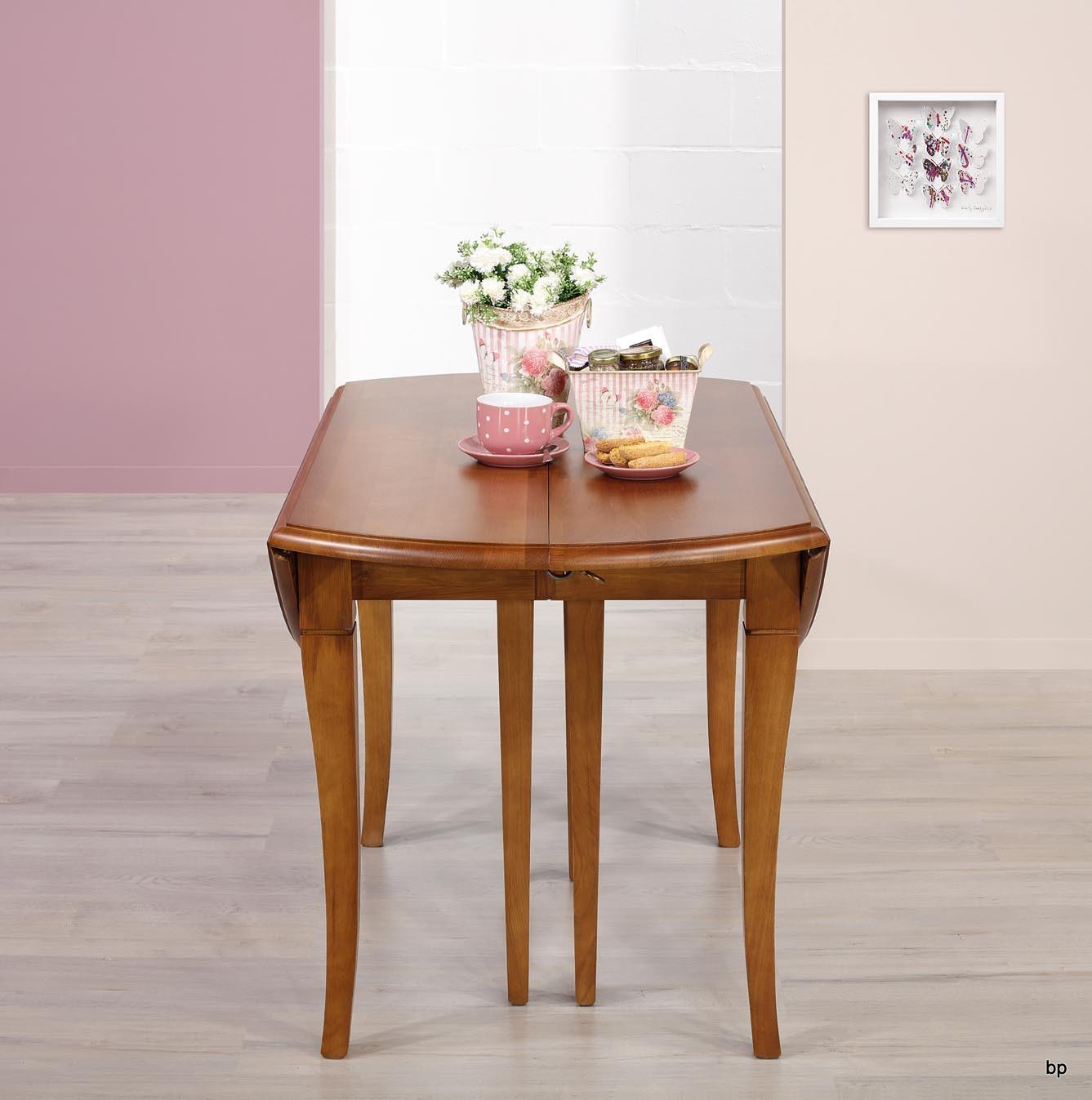 Table ronde volets diametre 110 en ch ne massif de style - Table ronde style louis philippe ...