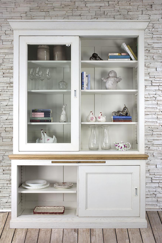 biblioth que 2 portes herv en ch ne massif de style. Black Bedroom Furniture Sets. Home Design Ideas