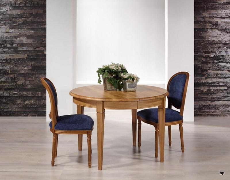 table ronde fabrice en ch ne massif de style louis philippe diametre 110 avec 5 allonges de 40. Black Bedroom Furniture Sets. Home Design Ideas