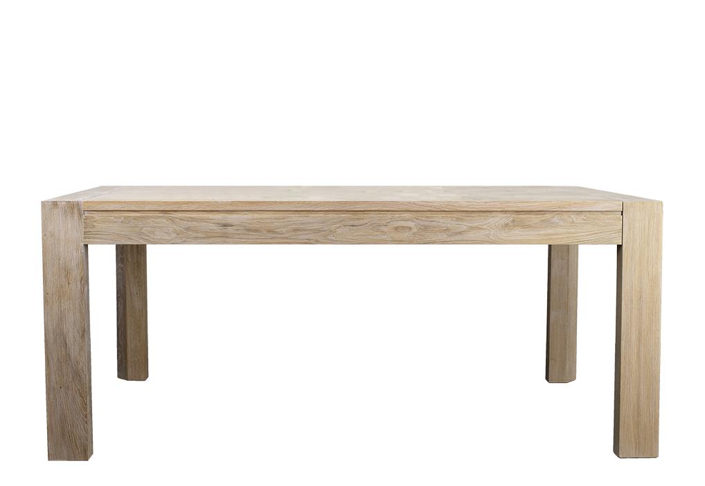 table de repas rectangulaire 180x100 en ch ne ligne contemporaine double allonge portefeuille en. Black Bedroom Furniture Sets. Home Design Ideas