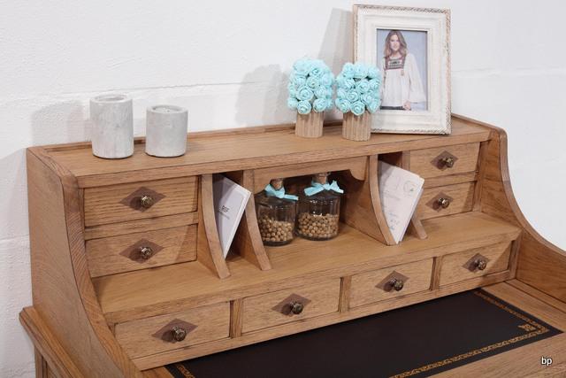 bonheur du jour louis en ch ne de style directoire finition ch ne bross naturel antik meuble. Black Bedroom Furniture Sets. Home Design Ideas