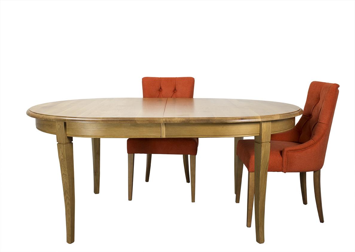 Table ovale constance 180 120 en ch ne massif de style for Table bois massif ovale