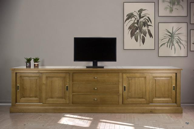 Meuble tv 16 9eme jean lin en ch ne massif de style louis philippe meuble en ch ne massif - Meuble tv style louis philippe ...