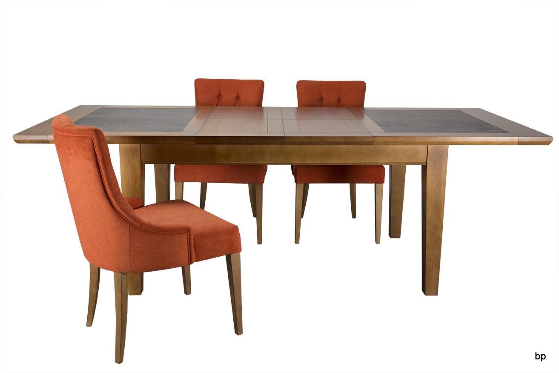 Table de repas jeanne en merisier massif pieds fuseaux for Table en ceramique rectangulaire