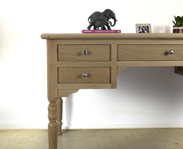 bureau ministre l o en ch ne massif de style louis philippe finition ch ne bross meuble en. Black Bedroom Furniture Sets. Home Design Ideas