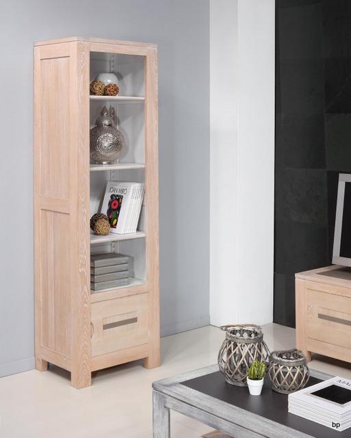 biblioth que contemporaine adriana en ch ne 3 tag res et. Black Bedroom Furniture Sets. Home Design Ideas