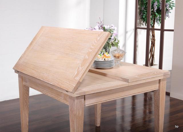 table de repas 100x100 en ch ne massif de style contemporain plateau ouvert 200x100 meuble en. Black Bedroom Furniture Sets. Home Design Ideas