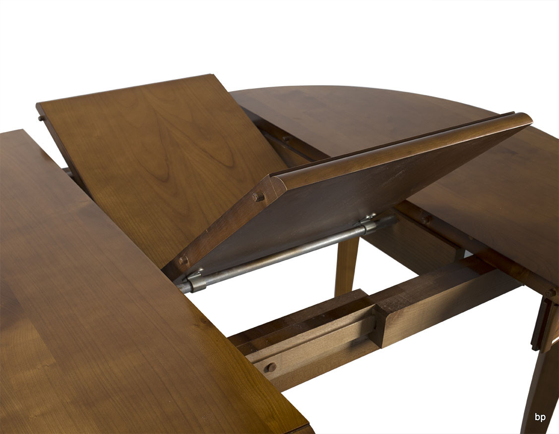 table ronde 4 pieds juliette en merisier massif de style louis philippe diam tre 100 cm meuble. Black Bedroom Furniture Sets. Home Design Ideas