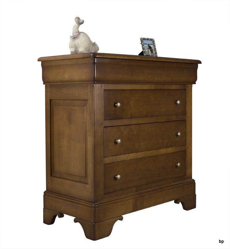 Commode 4 tiroirs en merisier massif de style louis philippe largeur 935 cm meuble en merisier - Commode louis philippe merisier ...