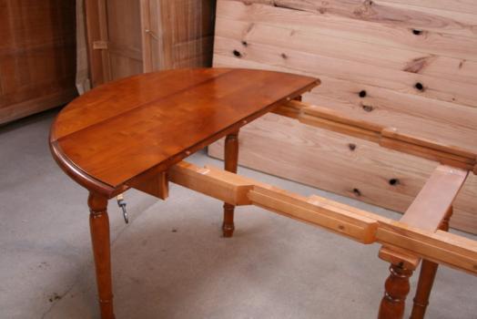 Table ronde volets diametre 110 de style louis philippe for Table ronde bois massif avec rallonge