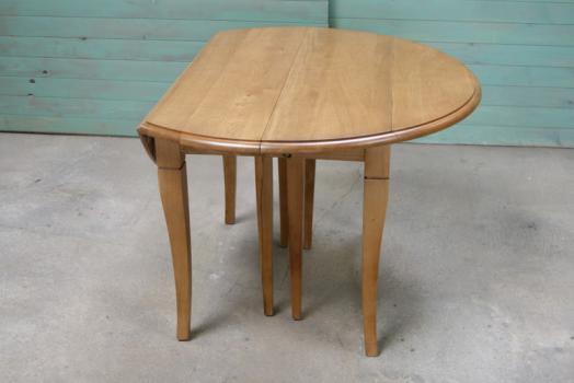 Table ronde volets diametre 110 en ch ne massif de style - Table ronde en bois avec rallonge ...