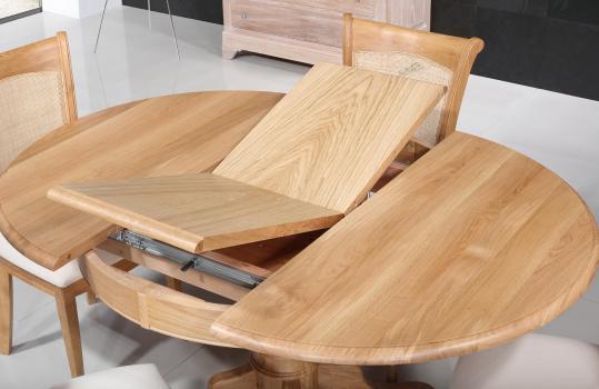 table ronde pieds central igor de style louis philippe en ch ne massif diam tre 105 meuble en. Black Bedroom Furniture Sets. Home Design Ideas