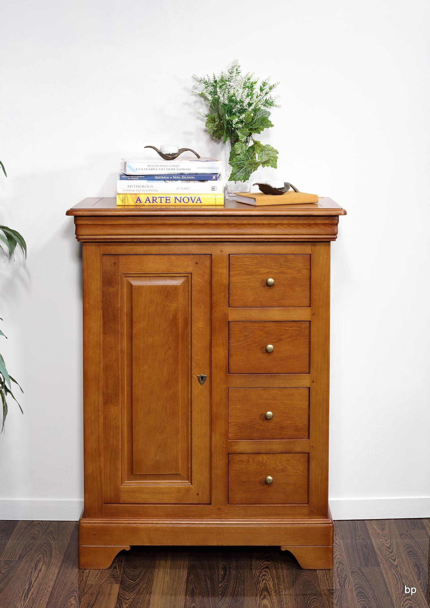 farinier 1 porte 5 tiroirs jean en ch ne massif de style louis philippe finition ch ne moyen. Black Bedroom Furniture Sets. Home Design Ideas