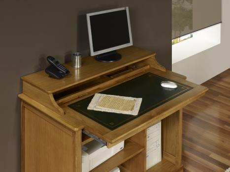 Petit bureau informatique en chêne de style louis philippe meuble