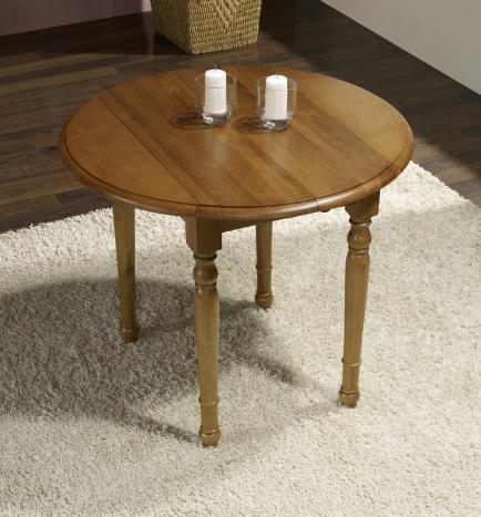 Table ronde volets diam tre 90 en ch ne massif de style louis philippe 2 al - Table en chene massif prix ...