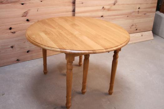 table ronde volets alain en ch ne massif de style louis philippe 4 allonges diametre 100. Black Bedroom Furniture Sets. Home Design Ideas