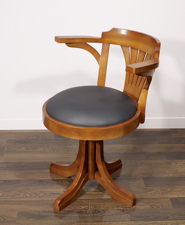 fauteuil de bureau emilio en h tre massif tournant meuble en merisier massif. Black Bedroom Furniture Sets. Home Design Ideas