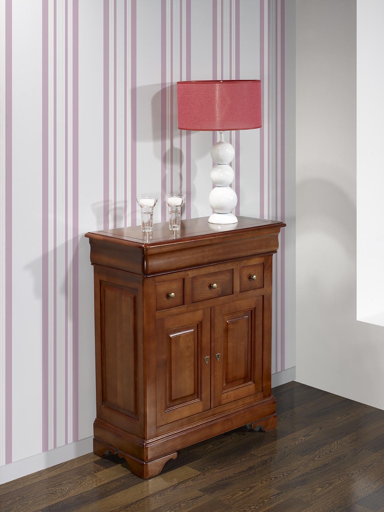 petit buffet maria jos e en merisier massif de style louis philippe meuble. Black Bedroom Furniture Sets. Home Design Ideas