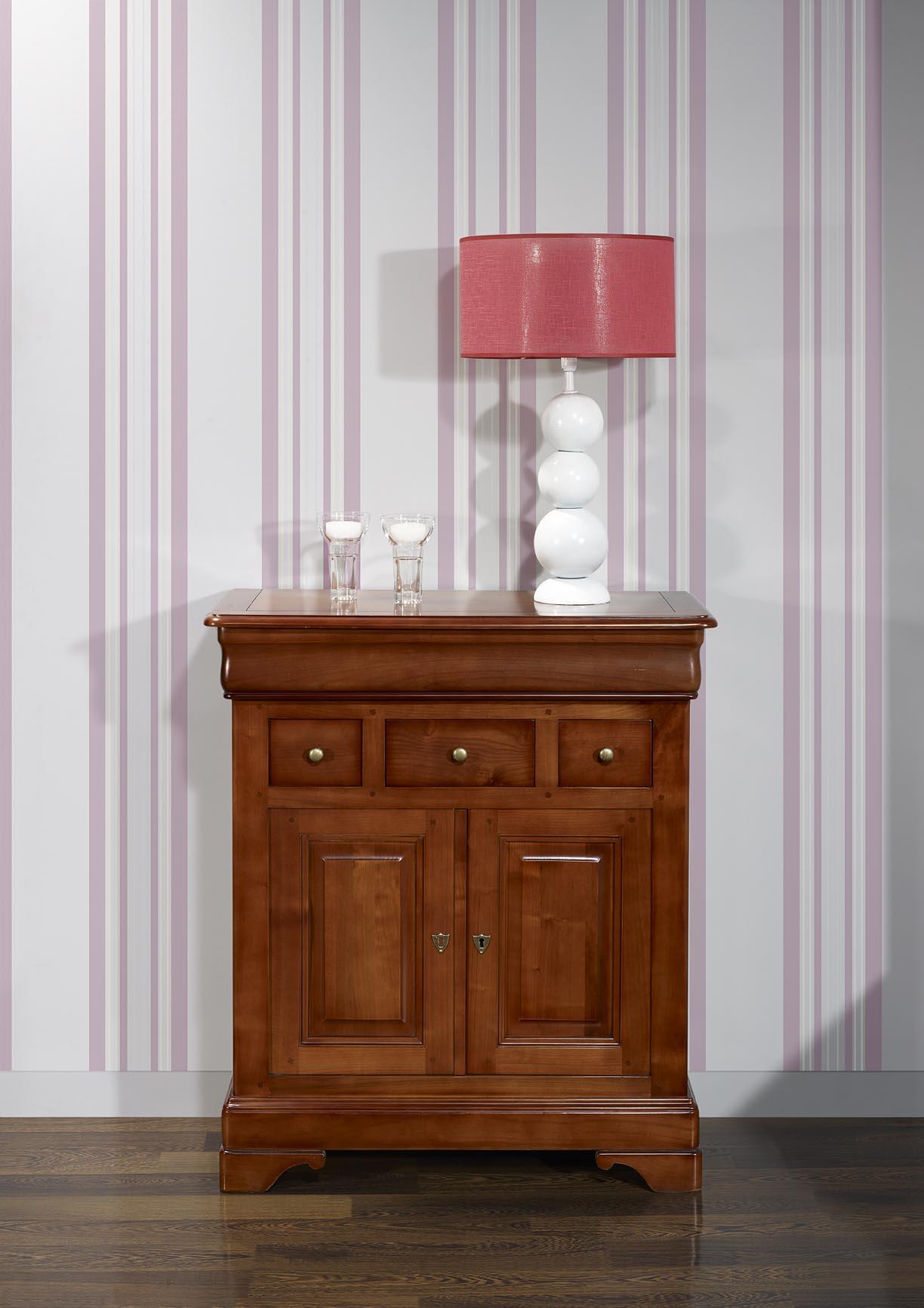 Petit buffet maria jos e en merisier massif de style louis philippe meuble en merisier massif - Meuble merisier style louis philippe ...
