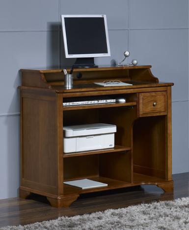 Bureau informatique bois - Meuble pour ordinateur et imprimante ...