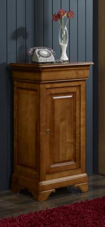 meuble t l phone en merisier massif de style louis philippe meuble en merisier massif. Black Bedroom Furniture Sets. Home Design Ideas