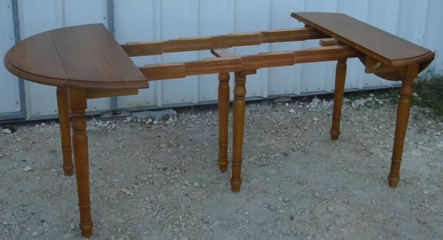 Table ronde volets diametre 105 3 allonges en ch ne for Table ronde en chene