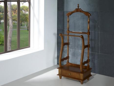 Valet de nuit en merisier massif de style louis philippe meuble en merisier massif - Valet de nuit bois ...