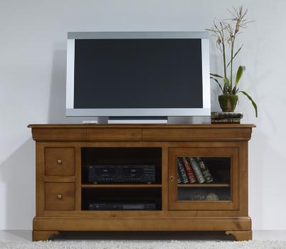 Meuble tv 16 9 me anne sophie en merisier massif de style louis philippe meuble en merisier massif - Meuble tv style louis philippe ...