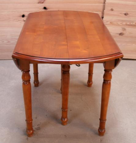 Table ronde volets diametre 120 en merisier massif de - Table ronde 120 cm ...