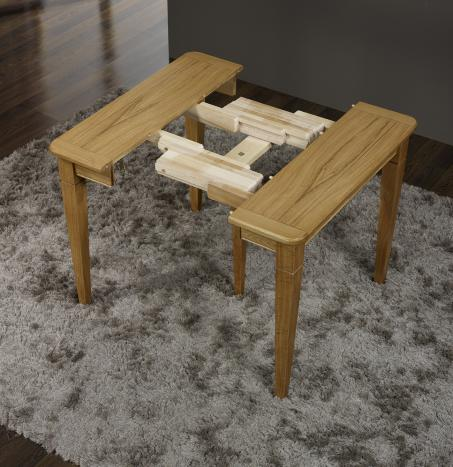 Console ou table extensible en ch ne de style louis for Table en bois extensible