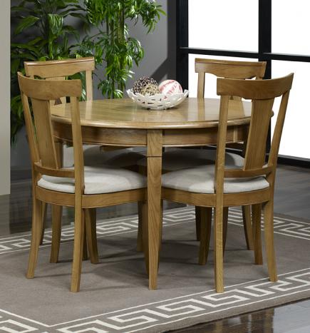 table ronde en ch ne massif de style louis philippe diametre 110 meuble en ch ne massif. Black Bedroom Furniture Sets. Home Design Ideas