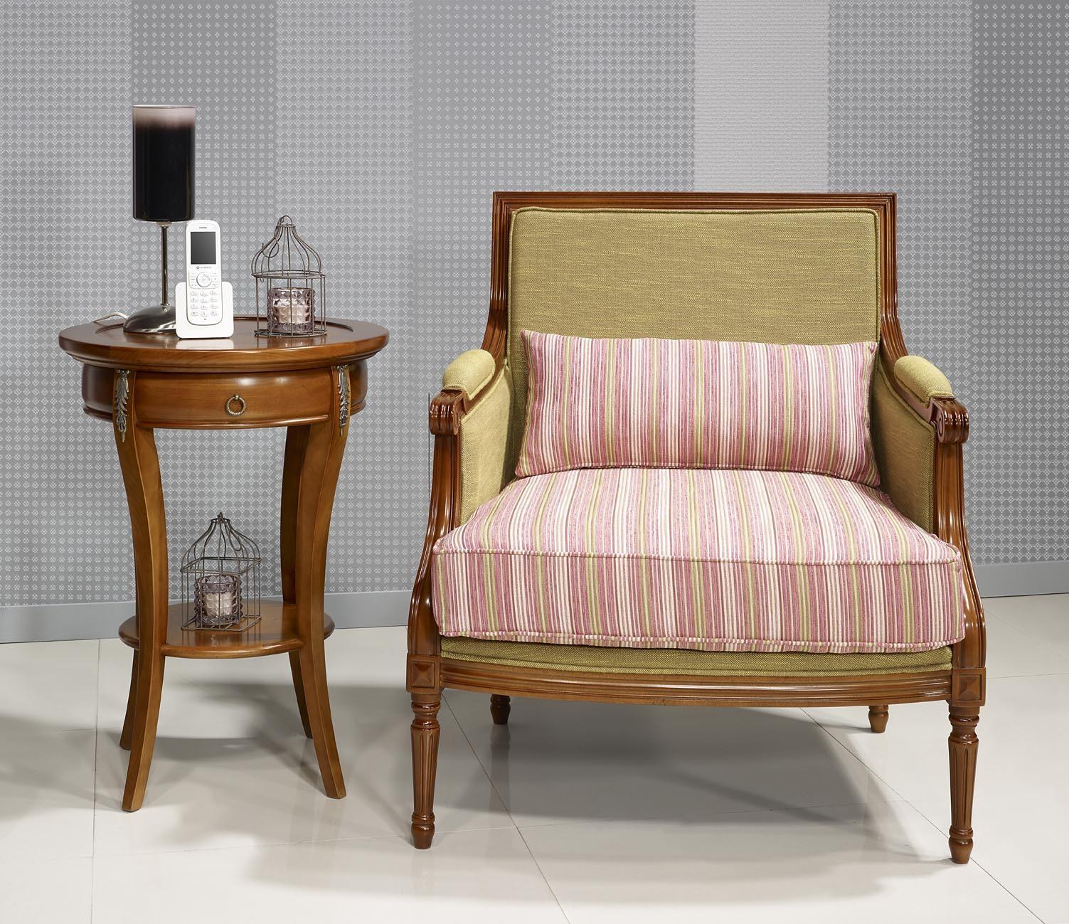 gu ridon rond syriel en merisier de style directoire. Black Bedroom Furniture Sets. Home Design Ideas