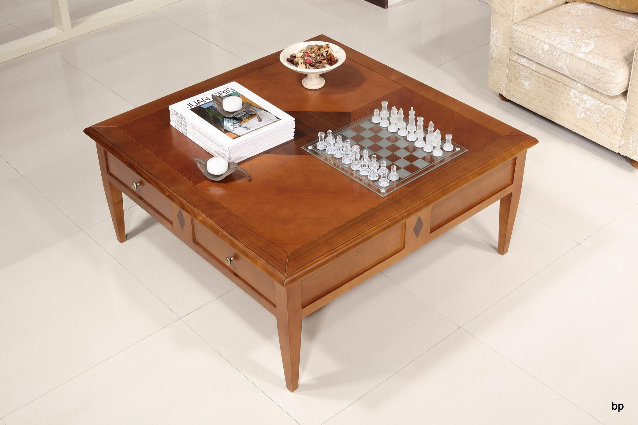 table basse en merisier de style directoire meuble en. Black Bedroom Furniture Sets. Home Design Ideas