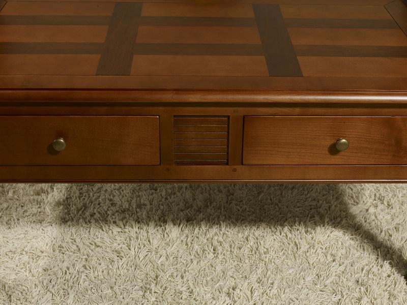 Table basse en merisier style louis philippe - Relooker table merisier ...