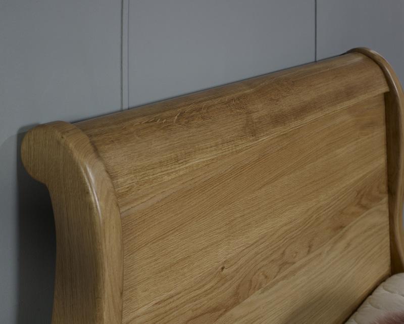lit bateau en ch ne massif 90x190 meuble en ch ne massif. Black Bedroom Furniture Sets. Home Design Ideas
