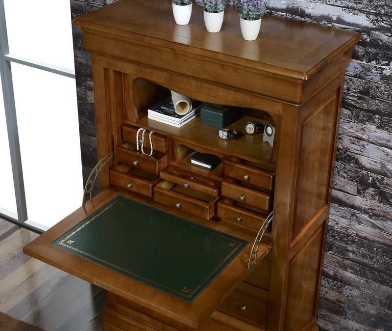 Secrétaire en Merisier Massif de style Louis Philippe , meuble en ...
