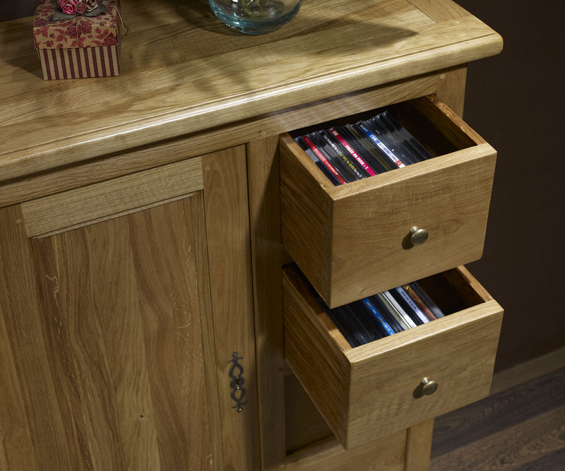 Farinier 1 porte 4 tiroirs marc en ch ne massif de style campagnard meuble - Meuble style campagnard ...
