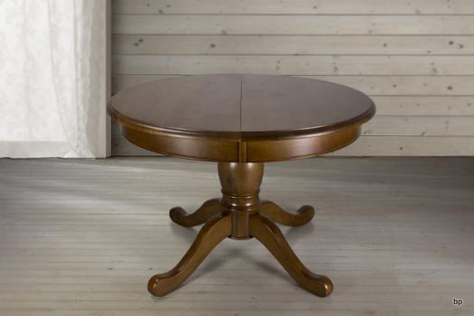 table ronde pieds central en ch ne de style louis philippe diametre 110 meuble en ch ne massif. Black Bedroom Furniture Sets. Home Design Ideas