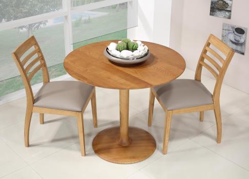 petite table ronde pieds central en fr ne massif diam tre 90 ligne contemporaine meuble en. Black Bedroom Furniture Sets. Home Design Ideas
