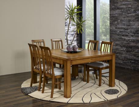 table de salle manger 140 140 contemporaine en ch ne. Black Bedroom Furniture Sets. Home Design Ideas
