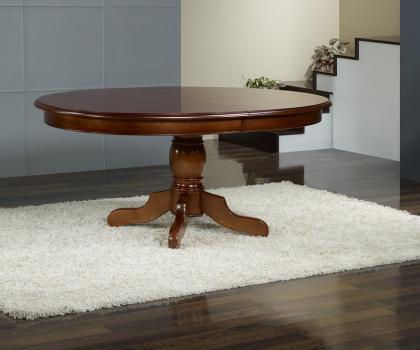 Table ovale pieds central en merisier massif 160 120 avec - Table ovale design pied central ...